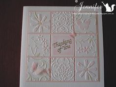 """cards, scraps, and other """"junk""""  Cuttlebug Squares"""