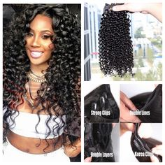 Crochet Hair Tangle Free : Peruvian Remy Hair Clip In Human Hair Extensions 200g/set Tangle Free ...