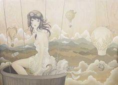 New Art - Conceptual Realism - Amy Sol Art And Illustration, Amy Sol, Journey, Kawaii, Relaxing Music, Ciel, American Artists, New Art, Fantasy Art