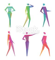 Polygonal People Royalty Free Stock Vector Art Illustration