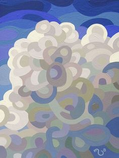 Abstract Landscape Painting - Mandy Budan: Clouds