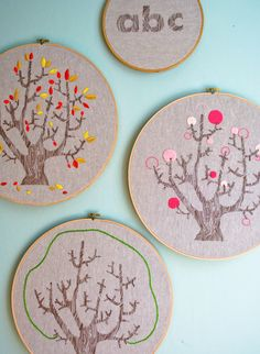 4 Seasons of Embroidery from Purl Soho + Egg Press - Knitting Crochet Sewing Crafts Patterns and Ideas! - the purl bee