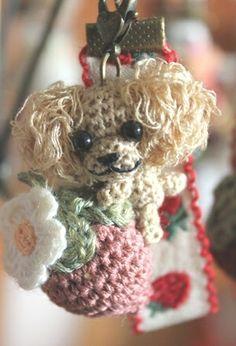 perro llavero amigurumi pagina japonesa