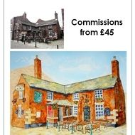 Building Paintings: House, Home, Pub, Landmark, Special Place Commission
