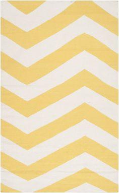 Flatweave yellow rug from Surya