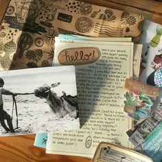 Envelope Lettering, Envelope Art, Pen Pal Letters, Letters Mail, Snail Mail Pen Pals, Paper Crafts Origami, Handwritten Letters, Happy Mail, Pen And Paper