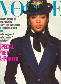 Scouted at the age of 15, Naomi is the most famous supermodel of her time. In 1988, she was the first Black model to appear on the cover of French Vogue, and in 1989, she was the first Black model to appear on the cover of U.S. Vogue's September issue (the biggest and most important issue of the year).    Campbell's fierceness is a legendary pop culture reference. After two decades, this diva is still very much in demand.
