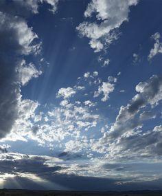 Dramatic Evening sky at Thunder Basin National Grasslands, North of Douglas Wyoming.