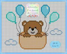 Baby Cross Stitch Patterns, Cross Stitch Charts, Cross Stitch Designs, Mini Cross Stitch, Cross Stitch Flowers, Modern Cross Stitch, Cross Stitching, Cross Stitch Embroidery, Embroidery Patterns