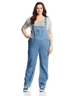 Amazon.com: Dickies Women's Plus-Size Denim Bib Overall: Clothing
