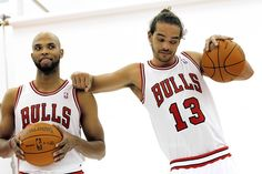 Media Day - Taj Gibson and Joakim Noah pose for a photograph December 11, 2011 | chicagotribune.com