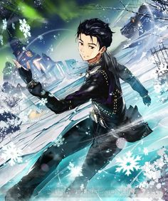 sunyshore: Rage of Bahamut and Yuri!!! On Ice are doing a collaboration, starting Feb 15th!