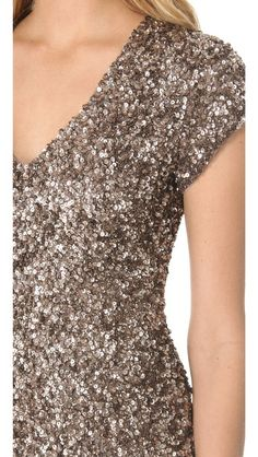 Parker Cluster Beaded V Neck Dress