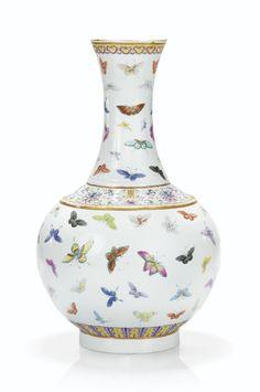Vase en porcelaine de la Famille Rose, Marque et époque Guangxu (1875-1908)
