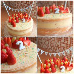 Narozeninový dort s ovocem Naked Cakes, Cheesecake, Breakfast, Morning Coffee, Cheesecakes, Cherry Cheesecake Shooters