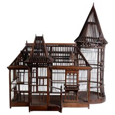 19th Century Carpenter Masterpiece Bird Cage | From a unique collection of antique and modern bird cages at http://www.1stdibs.com/furniture/more-furniture-collectibles/bird-cages/