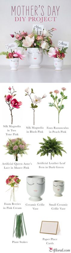 Mother's Day DIY Project - Give Mom the Gift of Silk Flowers this Mother's Day!