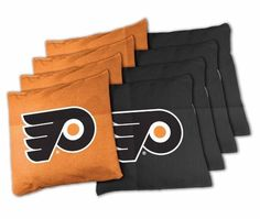 philadelphia flyers 8 16oz xl duck cloth tailgate tosscornhole bean bags