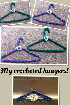 My own pattern for crocheted plastic hanger covers!