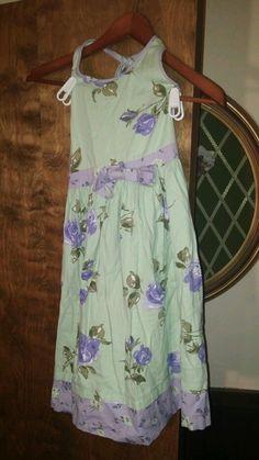 Hartstrings Girls Size 8 purple roses  Sun Dress EUC. Cute #Hartstrings #EverydayDressy