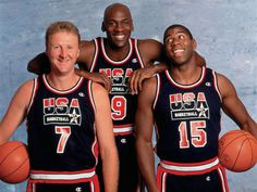 Larry Bird, Michael Jordan, and Magic Johnson. On the same team.