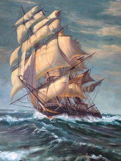 Nice art work of a ship.