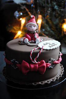 Homemade by MI: Kallen tonttukakku / Christmassy cake for Kalle