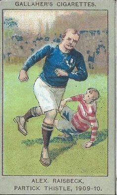 Alex Raisbeck of Partick Thistle in 1909-10.
