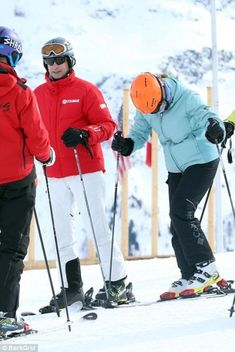 Lady Louise Windsor suffered a fractured lag on a family ski vacation in St. Moritz, Switzerland. The Earl and Countess of Wessex, Lady Louise Windsor and Viscount Severn. Feb. 18, 2018