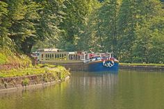 Photo of the Week: Hotel barge Panache cruising in Alsace.    Learn more about our cruise in Alsace here: http://www.gobarging.com/cruises-in-alsace-lorraine