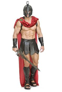 [Mens Halloween Costumes] Charades Men's Spartan Warrior with Accessories, Brown/Red, Medium ** You can find out more details at the link of the image. Greek God Costume, Egyptian Costume Kids, Spartan Costume, Gladiator Costumes, Apple Costume, Greek Warrior, Spartan Warrior, Sexy Halloween Costumes, Superhero Costumes For Men