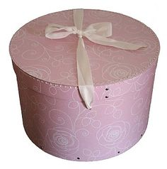 Beautiful Pink Hat Box With Floral Decoration. This Elegant Hat Storage  Will Be A Stylish