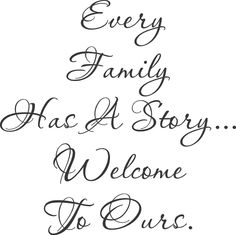 Every Family Story Large Wall Decals