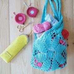 ByHaafner, crochet, vegan Namaste crochet case, market bag
