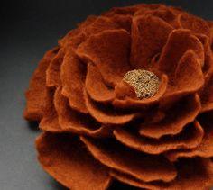Rusty Flower brooch from Brigite