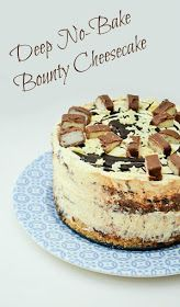 Deep No-Bake Bounty Coconut Cheesecake