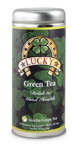 The Irish like their tea. Sencha Tea, Sencha Green Tea, St Paddys Day, St Patricks Day, Irish Tea, Tea Favors, Super Bowl Sunday, Groundhog Day, Tea Time