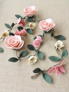 Best 12 I have received many messages regarding the name plaques and letters and where to buy them. supplies lots of… – SkillOfKing. Tissue Paper Flowers, Felt Flowers, Diy Flowers, Fabric Flowers, Floral Garland, Flower Garlands, Primitive Doll Patterns, Diy Crafts How To Make, Flower Nursery