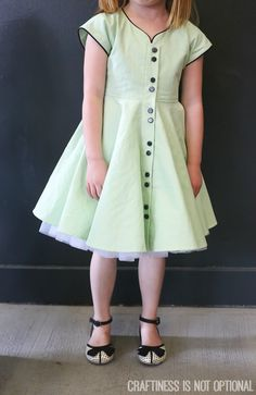 vintage may || craftiness is not optional & skirt as top {i LOVE this color palette and the piping. so darling. And I want the shoes for meeeeee!}