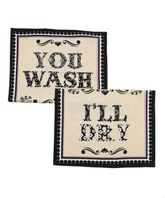 This reminds me of my grandmother, cousin and sister!  :)   This Wash & Dry Flour Sack Towel - Set of Two is perfect! #zulilyfinds
