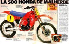 1984- Andre Malherbe's 500 Works Honda
