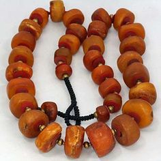 Natural Antique Amber Beads most likely Baltic