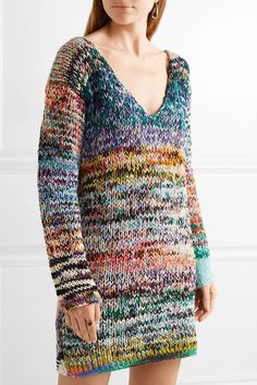 Missoni | Oversized mélange cashmere and wool-blend sweater dress | NET-A-PORTER.COM