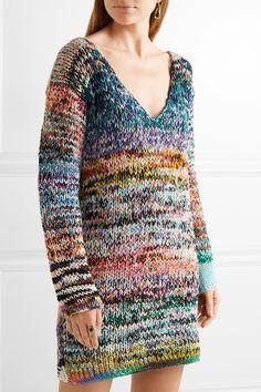 Missoni | Oversized mélange cashmere and wool-blend sweater dress | NET-A-PORTER.COM