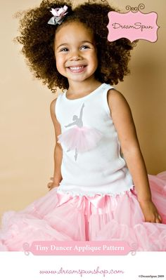 Tiny Dancer Ballerina Tshirt  DIY Kit with by DreamSpunKids, $14.50