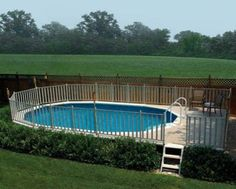 landscape ideas for above ground pool - Google Search