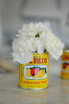 Fiesta Decorations El Pato Mexican tin cans Set of 6 SMALL ~ unique idea for Bridal Shower Wedding Engagement Birthday Retirement Baby BBQ Simple Centerpieces, Baby Shower Centerpieces, Centerpiece Ideas, Mexican Centerpiece, Flower Centerpieces, Wedding Centerpieces, Wedding Table, Diy Wedding, Ideas Actuales