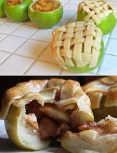 Dat ziet er makkelijk uit, Appel gevuld met appel!