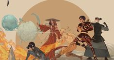 In their element. (credit: _olidraws) : TheLastAirbender Avatar Kyoshi, Azula, Avatar Characters, Superhero Characters, Avatar Studios, Korrasami, Legend Of Korra, The Last Airbender, Alien Logo