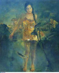 hu jun di via Artodyssey Art And Illustration, Chinese Painting, Chinese Art, Hu Jun, Art Asiatique, Art Themes, Figure Painting, Traditional Art, Asian Art
